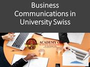 Business Communications in University Swiss