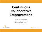 MAIS Nov 4, 2017 Continuous Collaborative Improvement