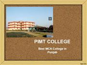 Best MCA College in Punjab - PIMT College | Fees, Cut-off, Placements