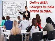 Both MBA and PGDBA are the online mba colleges in India MIBM GLOBAL
