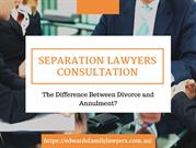 Family Lawyers Sydney - How Divorce Different From An Annulment