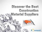Discover the Best Construction Material Suppliers