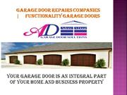 Garage Door Repairs Companies | Functionality Garage Doors