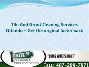Tile And Grout Cleaning Services Orlando