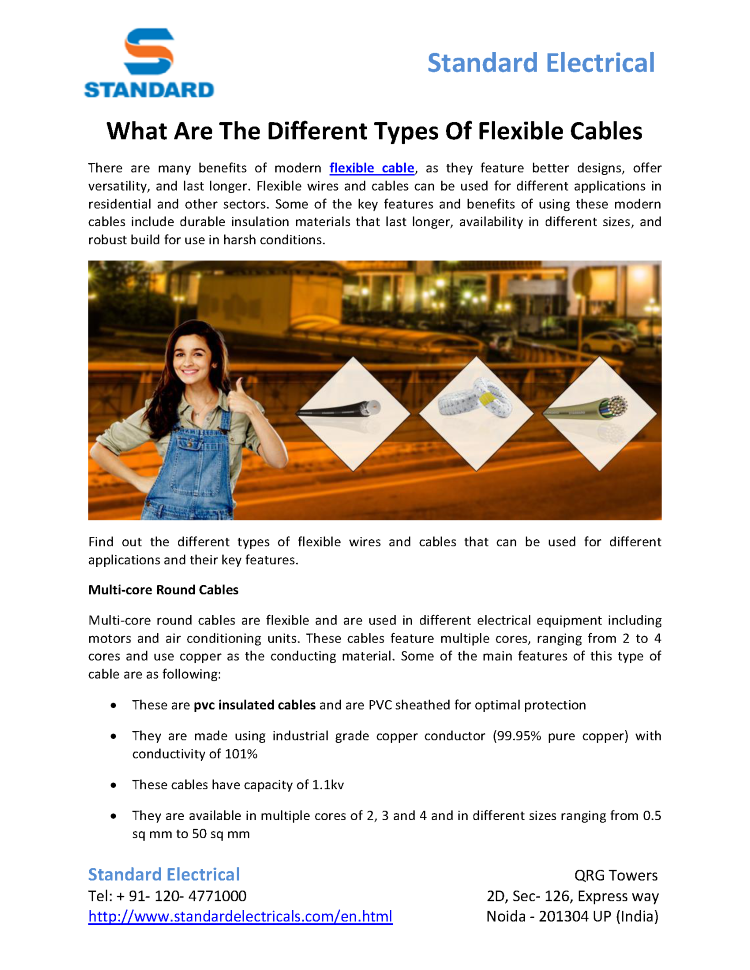 What are the Different Types of Flexible Cables |authorSTREAM