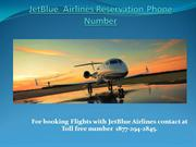 JetBlue  Airlines Reservation Phone Number