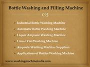 Bottle Wahing Machine & Filling Machine