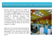 Best Office Spaces in Noida  Greater Noida (For Rent)- A Complete Reco