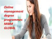 Online management degree programmes and online degree programmes