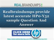 Get Latest HP HP0-Y52 Exam Questions
