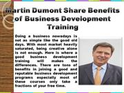 Martin Dumont known as highly successful CEO