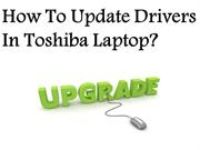 Update Drivers In Toshiba Laptop