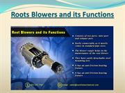 Roots Blowers and its Functions