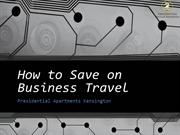How to Save on Business Travel
