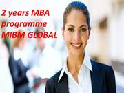2 years MBA programme one of the programmes