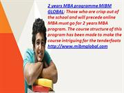 Online MBA must go for 2 years MBA programme