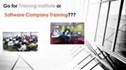 Go for Software training institute or Software company training???