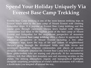 Spend Your Holiday Uniquely Via Everest Base Camp Trekking
