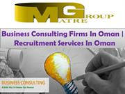 Business Consulting Firms In Oman |  Recruitment Services In Oman