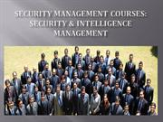 Security Management Courses, Security & Intelligence Management