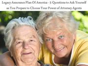 Legacy Assurance Plan Of America - 5 Questions to Ask Yourself as You