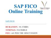 SAP FICO Training Course Content PPT | SAP FICO Training in Chennai