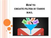 How to Setup Filter in Yahoo Mail