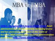 EMBA - Executive MBA Degree of business. MBA courses