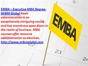 EMBA - Executive MBA Degree Online MBA course in resource MIBM GLOBAL