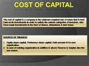 003.  COST OF CAPITAL