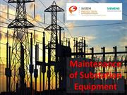 Maintenance of Substation Equipment | Operation Of Substation