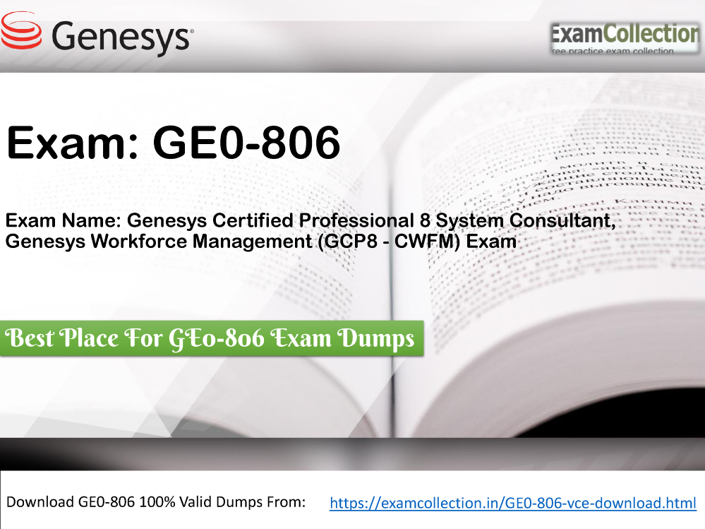Examcollection Ge0 806 Vce Dumps Authorstream