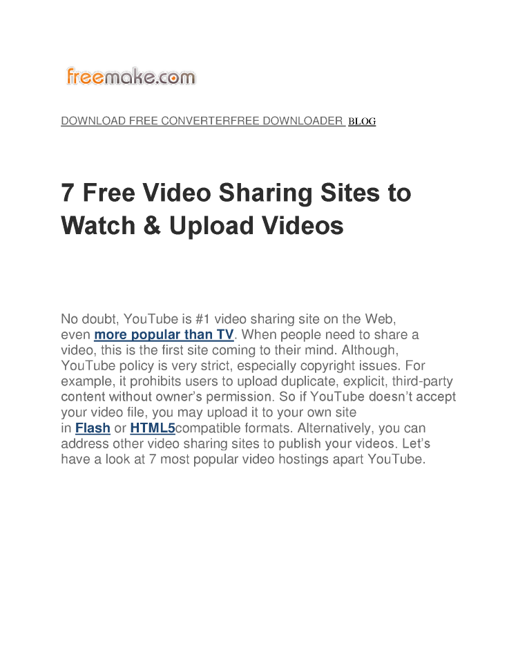 7 Free Video Sharing Sites to Watch  authorSTREAM