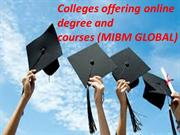 Colleges offering online degree and courses information of the MIBM GL