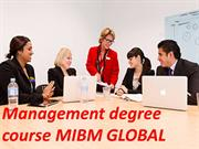 A MBA course instructs the Management degree course