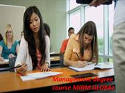 The accomplishment of the Management degree course MIBM GLOBAL