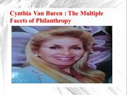 Cynthia Van Buren -The Multiple Facets of Philanthropy