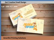 High Quality Business Card Design And  Creative Email Design