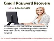 Gmail Password Recovery Number USA   +1-844-202-0908