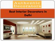 Best Interior Decorators in Delhi