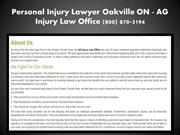 Oakville Personal Injury Lawyer