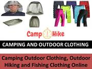 Camping And Outdoor Clothing