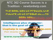 NTC 362 Course Succes is a Tradition -  newtonhelp.com