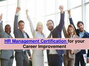 HR Management Certification for your Career Improvement