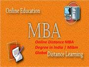 Online Distance MBA Degree in India for the MBA