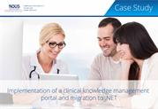 Clinical Knowledge Management Portal Development – Nous Infosystems