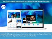 Ten Reasons Why You Should Hire a Digital Marketing Company