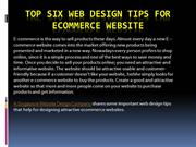 Top Six Web Design Tips for eCommerce Website