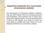 Important elements of a successful eCommerce website