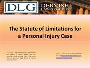 The Statute of Limitations for a Personal Injury Case